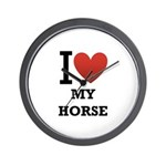 i love my horse.png Wall Clock