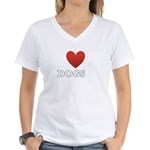 i-heart-dogs4.png Women's V-Neck T-Shirt