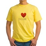 i-heart-dogs4.png Yellow T-Shirt