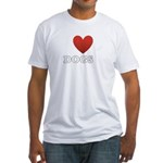 i-heart-dogs4.png Fitted T-Shirt
