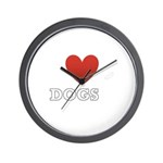 i-heart-dogs4.png Wall Clock