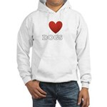 i-heart-dogs4.png Hooded Sweatshirt