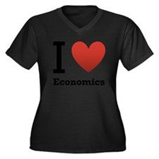 i-love-economics.png Women's Plus Size V-Neck Dark