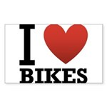 i-love-bikes.png Sticker (Rectangle 10 pk)