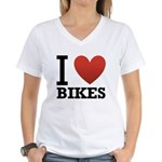 i-love-bikes.png Women's V-Neck T-Shirt