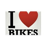 i-love-bikes.png Rectangle Magnet (10 pack)