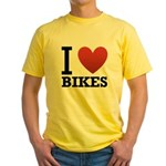 i-love-bikes.png Yellow T-Shirt