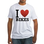 i-love-bikes.png Fitted T-Shirt