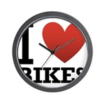 i-love-bikes.png Wall Clock