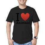 i-love-animals.png Men's Fitted T-Shirt (dark)