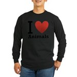 i-love-animals.png Long Sleeve Dark T-Shirt