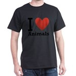 i-love-animals.png Dark T-Shirt