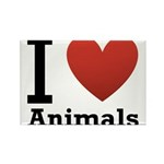 i-love-animals.png Rectangle Magnet (10 pack)