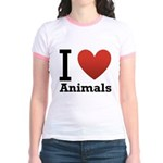 i-love-animals.png Jr. Ringer T-Shirt