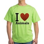 i-love-animals.png Green T-Shirt