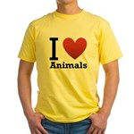 i-love-animals.png Yellow T-Shirt