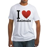 i-love-animals.png Fitted T-Shirt
