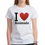 i-love-animals.png Women's T-Shirt
