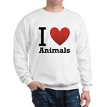 i-love-animals.png Sweatshirt