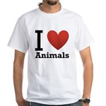 i-love-animals.png White T-Shirt