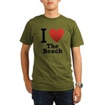 i-love-the-beach.png Organic Men's T-Shirt (dark)