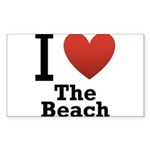 i-love-the-beach.png Sticker (Rectangle 10 pk)