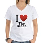 i-love-the-beach.png Women's V-Neck T-Shirt