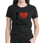 i-love-the-beach.png Women's Dark T-Shirt