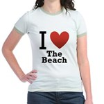 i-love-the-beach.png Jr. Ringer T-Shirt