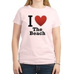 i-love-the-beach.png Women's Light T-Shirt