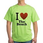 i-love-the-beach.png Green T-Shirt