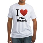 i-love-the-beach.png Fitted T-Shirt