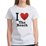 i-love-the-beach.png Women's T-Shirt