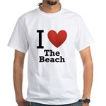 i-love-the-beach.png White T-Shirt
