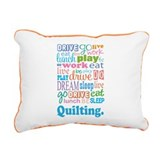 Quilting Rectangular Canvas Pillow