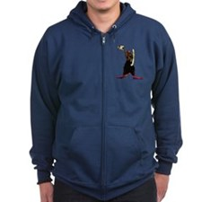 Man of Fire Zip Hoodie