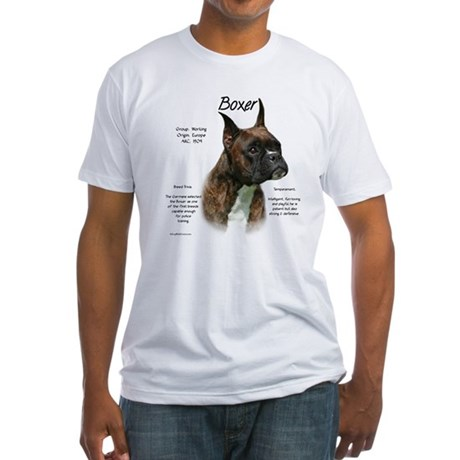 Brindle Boxer Fitted T-Shirt
