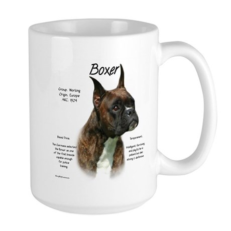 Brindle Boxer Large Mug