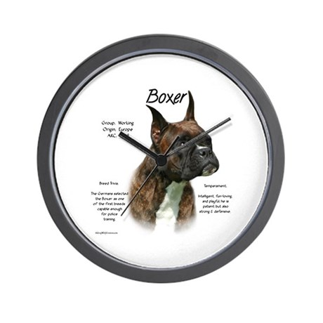 Brindle Boxer Wall Clock