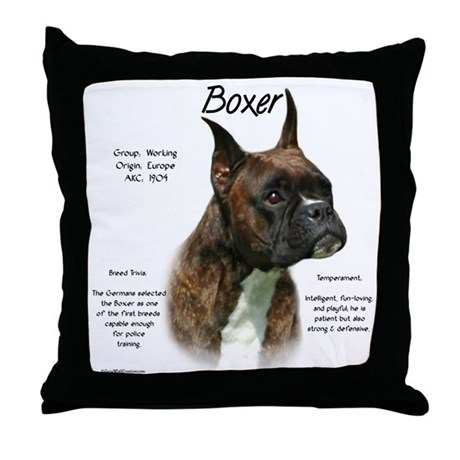 Brindle Boxer Throw Pillow