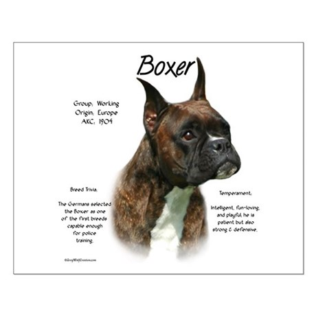 Brindle Boxer Small Poster
