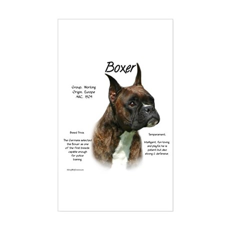 Brindle Boxer Rectangle Sticker