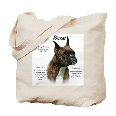 Brindle Boxer Tote Bag