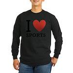 I Love Sports Long Sleeve Dark T-Shirt