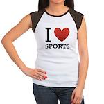 I Love Sports Women's Cap Sleeve T-Shirt