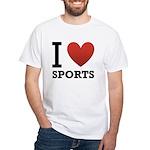 I Love Sports White T-Shirt