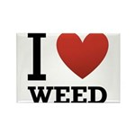 i-love-weed.png Rectangle Magnet (10 pack)