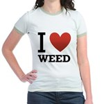 i-love-weed.png Jr. Ringer T-Shirt