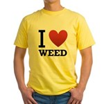 i-love-weed.png Yellow T-Shirt