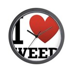 i-love-weed.png Wall Clock